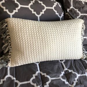Grey/White Decor Pillow